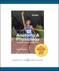 Anatomy and Physiology (6th) edition 0071316388 9780071316385