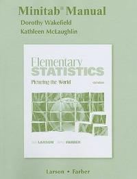 minitab manual for elementary statistics 5th edition textbook rh chegg com Elementary Statistics Formula Sheet Elementary Statistics Problems
