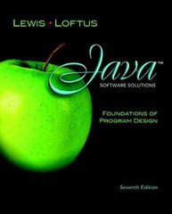 Java Software Solutions 7th edition 9780132149181 0132149184