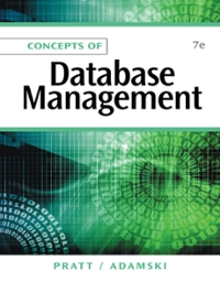 Concepts of Database Management (7th) edition 1133684374 9781133684374
