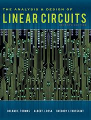 The Analysis and Design of Linear Circuits 7th edition 9781118214299 1118214293
