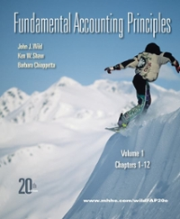 Fundamental Accounting Principles Vol 1 with Connect Plus 20th edition 9780077506001 0077506006