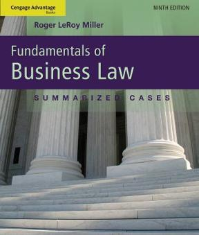 Cengage advantage books fundamentals of business law summarized cengage advantage books fundamentals of business law 9th edition 9781111530624 1111530629 fandeluxe Gallery