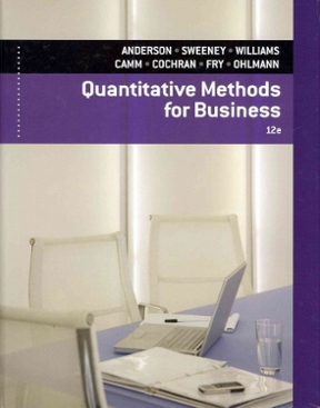 Quantitative methods for business 12th edition rent quantitative methods for business 12th edition 9781133707592 1133707599 fandeluxe