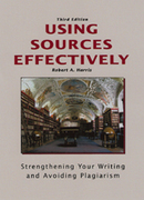 Using Sources Effectively 3rd Edition 9781884585937 1884585930
