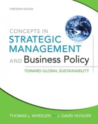 Concepts in Strategic Management and Business Policy (13th) edition 9780132153355 0132153351