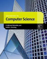 Invitation to Computer Science 6th Edition 9781133190820 1133190820