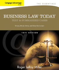 Cengage Advantage Books: Business Law Today, The Essentials 10th Edition 9781133191353 1133191355