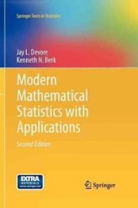 Modern Mathematical Statistics with Applications (2nd) edition 9781461403906 1461403901