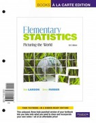 Elementary Statistics: Picturing the World, Books a la Carte Edition Plus MSL -- Access Card Package 5th edition 9780321782656 0321782658