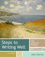 Steps to Writing Well with Additional Readings 9th Edition 9781133311294 1133311296