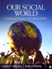 Our social world: condensed: an introduction to sociology kindle.