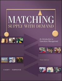 Textbook rental rent production and operations management matching supply with demand 3rd edition 9780073525204 0073525200 fandeluxe Choice Image