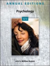 Annual Editions: Psychology 12/13 43rd edition 9780078051128 0078051126