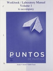 Workbook/Laboratory Manual Vol 1 to accompany Puntos de Partida: An Invitation to Spanish 9th Edition 9780077511753 0077511751
