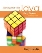 Starting Out with Java 3rd edition 9780321497680 0321497686