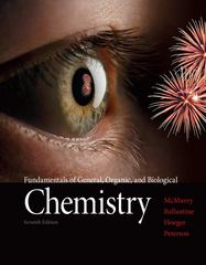 Fundamentals of General, Organic, and Biological Chemistry 7th Edition 9780321750839 0321750837