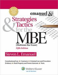 Strategies and Tactics for the MBE 5th Edition 9781454809920 1454809922