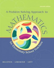 A Problem Solving Approach to Mathematics for Elementary School Teachers 11th edition 9780321756664 0321756665