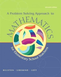 A Problem Solving Approach to Mathematics for Elementary School Teachers (11th) edition 0321756665 9780321756664