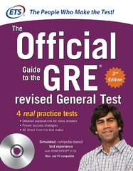 GRE The Official Guide to the Revised General Test with CD-ROM 2nd Edition 9780071791236 007179123X