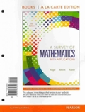 A Survey of Mathematics with Applications, Books a la Carte Edition