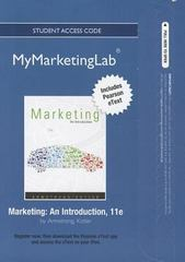 2012 MyMarketingLab with Pearson eText -- Access Card -- for Marketing 11th edition 9780132749558 0132749556