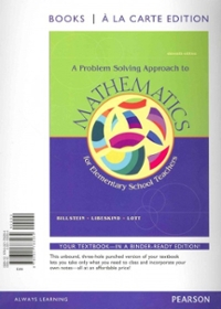A Problem Solving Approach to Mathematics for Elementary Teachers, Books a la Carte Edition Plus MyMathLab -- Access Card Package (11th) edition 321828011 9780321828019