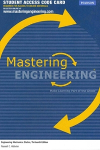 MasteringEngineering -- Access Card -- for Engineering Mechanics (13th) edition 132915790 9780132915793