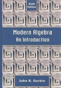 Modern Algebra 6th edition 9780470384435 0470384433