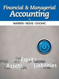 Financial & Managerial Accounting (12th) edition 1133952429 9781133952428