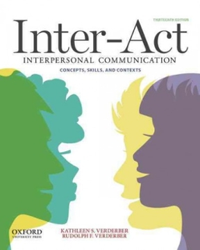 Inter act interpersonal communication concepts skills and contexts inter act 13th edition 9780199836888 0199836884 fandeluxe Images