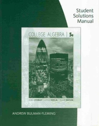 Student Solutions Manual for Stewart/Redlin/Watson's College Algebra (5th) edition 0495565245 9780495565246