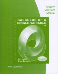 Student solutions manual for larsonedwards calculus of a single student solutions manual for larsonedwards calculus of a single variable 10th 10th fandeluxe Images