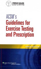 ACSM's Guidelines for Exercise Testing and Prescription 9th Edition 9781609139551 1609139550