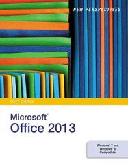 New Perspectives on Microsoft Office 2013, First Course 1st Edition 9781285167640 1285167643