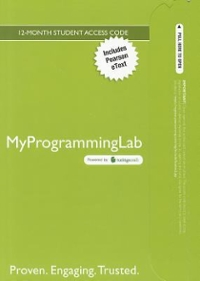 MyProgrammingLab with Pearson eText -- Access Card -- for Absolute C++ 5th edition 9780132846578 0132846578