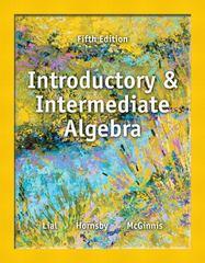 Introductory and intermediate algebra 5th edition textbook solutions introductory and intermediate algebra 5th edition 9780321865533 0321865537 fandeluxe Images