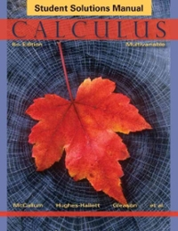 Calculus: Multivariable, Student Solutions Manual (6th) edition 1118217381 9781118217382