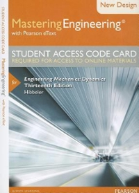 NEW MasteringEngineering with Pearson eText -- Access Card --for Engineering Mechanics (13th) edition 0133083316 9780133083316