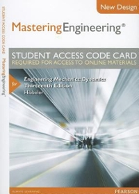 NEW MasteringEngineering -- Access Card -- for Engineering Mechanics (13th) edition 0133083248 9780133083248