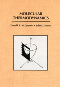 Molecular Thermodynamics 0th edition 9781891389054 189138905X