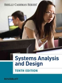 Chapter 5 Solutions Systems Analysis And Design 10th Edition Chegg Com
