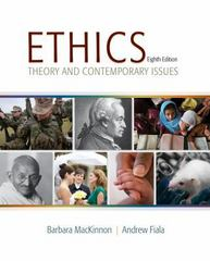 Ethics 8th Edition 9781285196756 1285196759