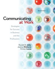 Communicating at Work  11th Edition 9780078036804 0078036801