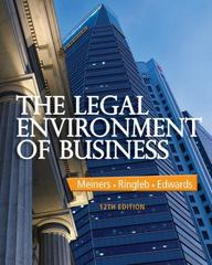 The Legal Environment of Business 12th Edition 9781285428222 1285428226