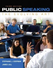 Public Speaking 3rd Edition 9781285432823 1285432827