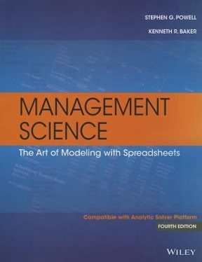 Management science the art of modeling with spreadsheets 4th edition management science 4th edition 9781118582695 1118582691 view textbook solutions fandeluxe Image collections