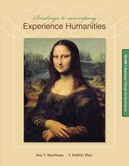Readings to Accompany Experience Humanities 8th Edition 9780077494728 0077494725