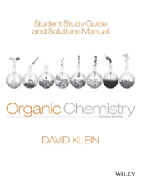 Student Study Guide and Solutions Manual for Organic Chemistry (2nd) edition 1118647955 9781118647950
